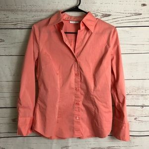 New York & Company Salmon Button Down